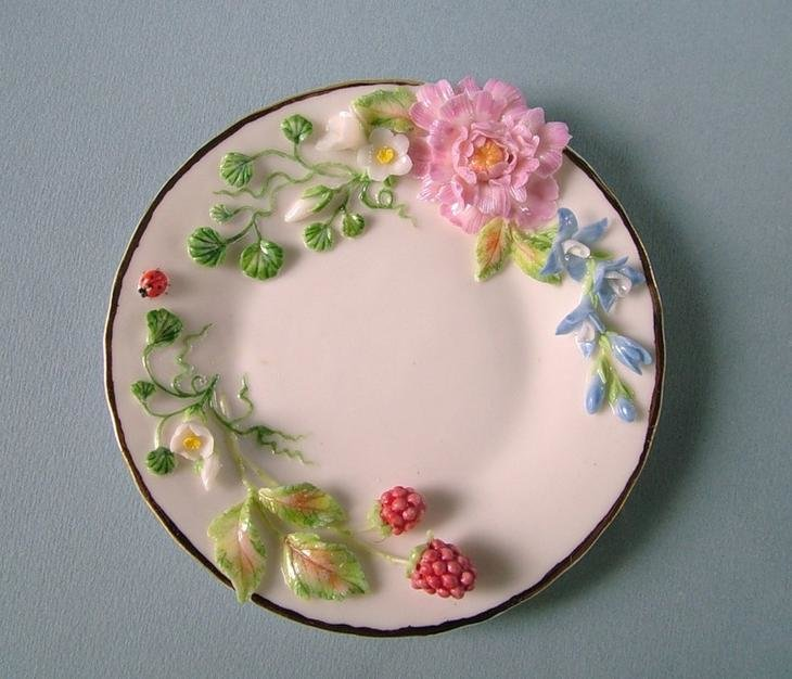 Тарелка с цветами своими руками мастер класс