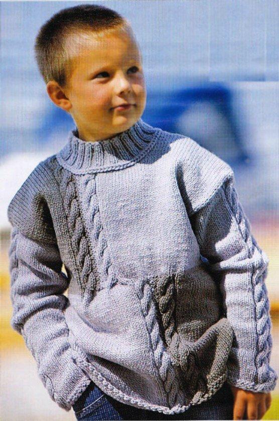 Вязание спицами свитер для мальчика 5-6 лет 48