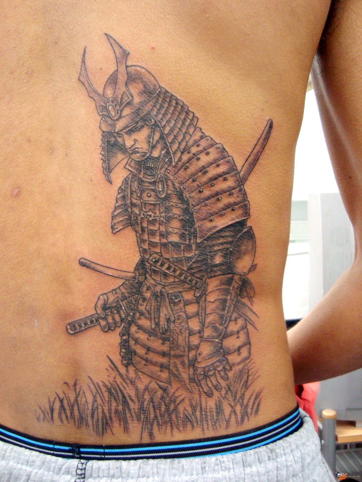 Тату самурай с мечом фото