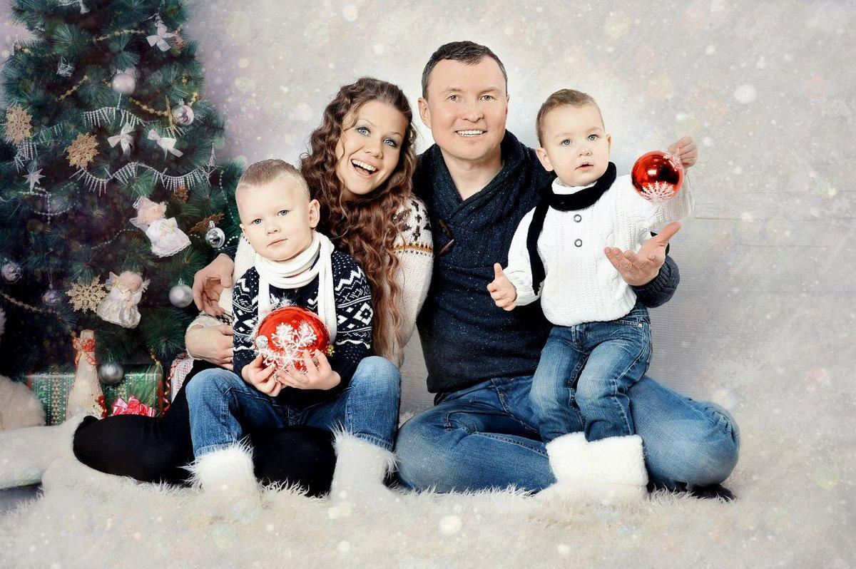 Для семейной фотосессии своими руками