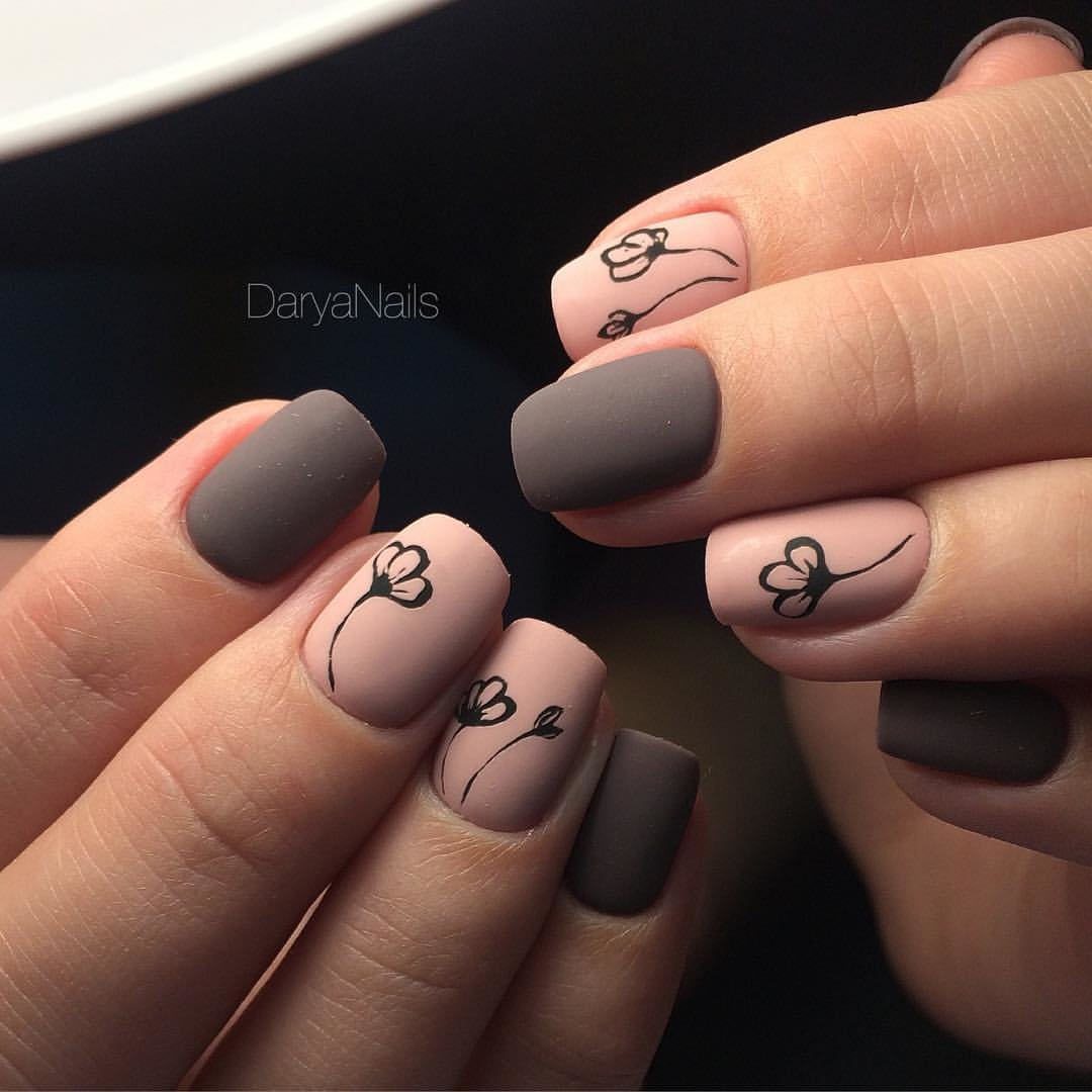 Рисунок на ногтях гель лаком фото матовый