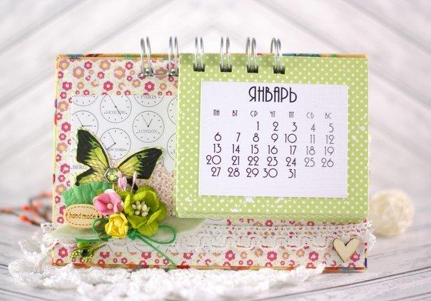 Настольный календарь сделать своими руками 15