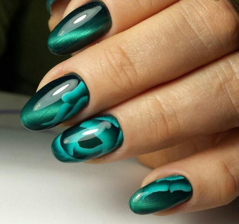 Дизайн Ногтей Цвет Марсала Идеи