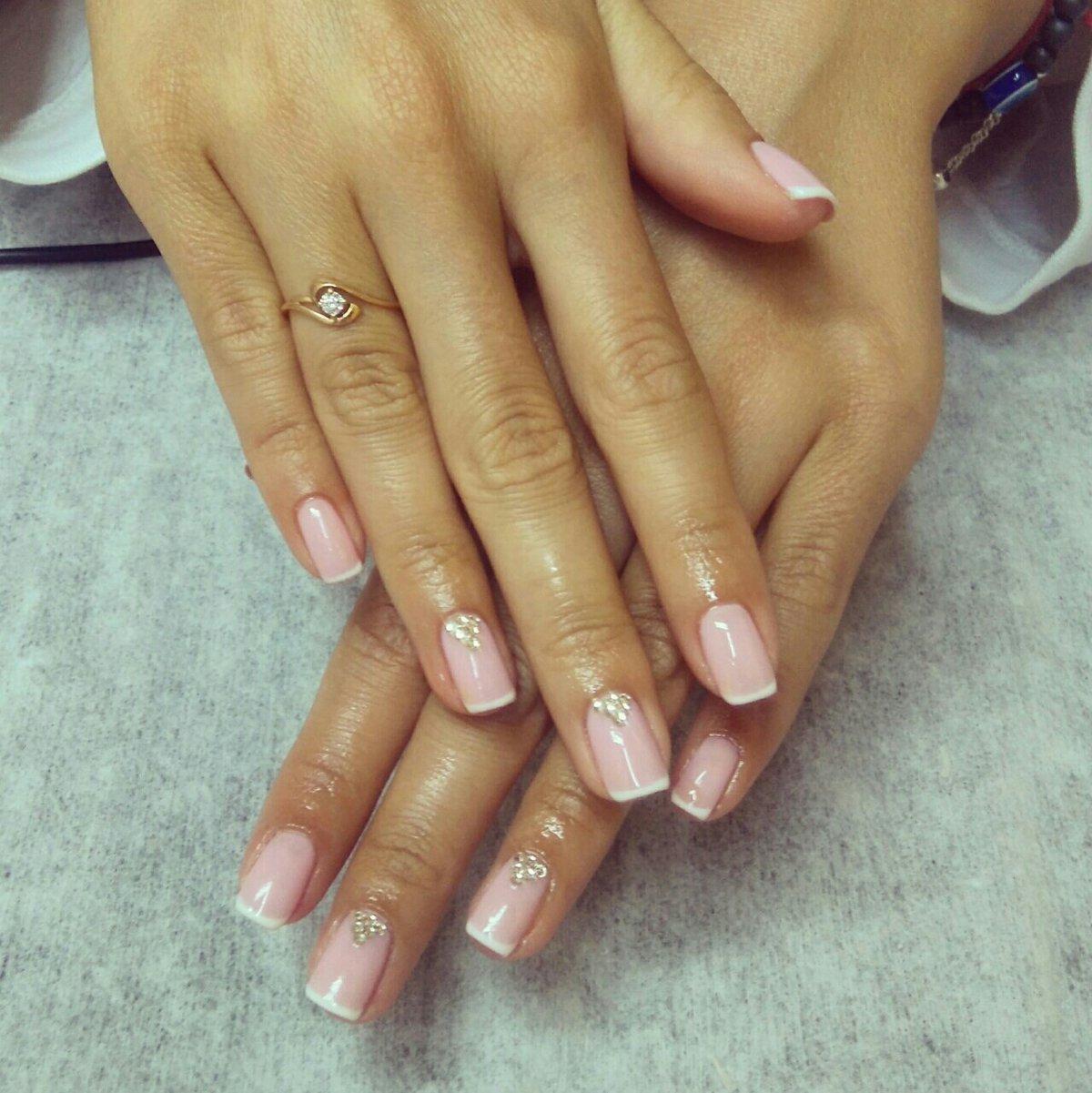 Фото френча со своими ногтями