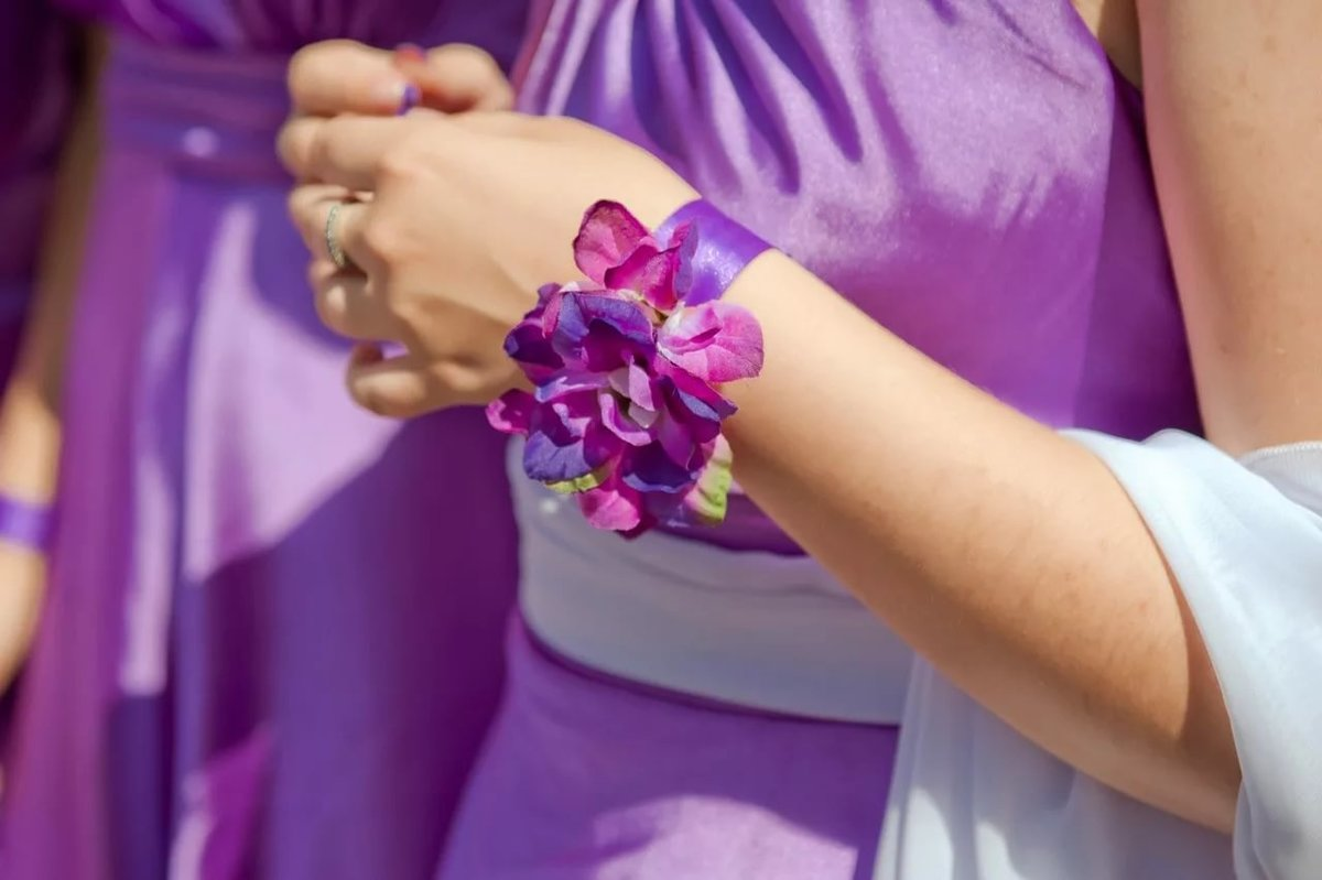 Браслеты из живых цветов на руку своими руками три свадебных. Букетио 91