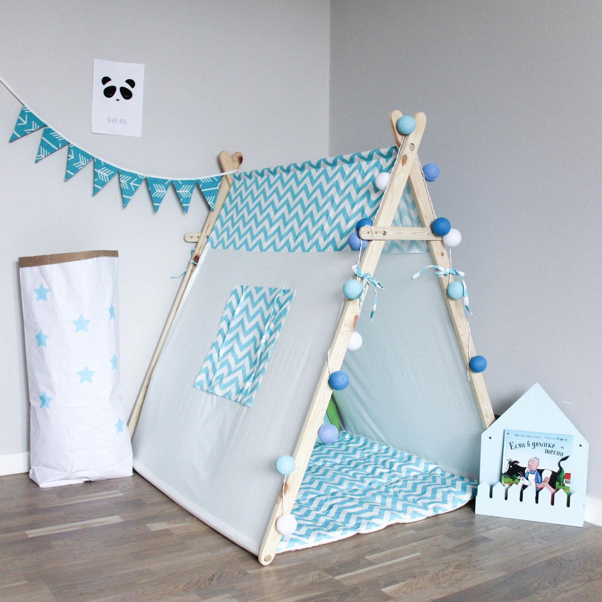 Детский домик-палатка своими руками 69