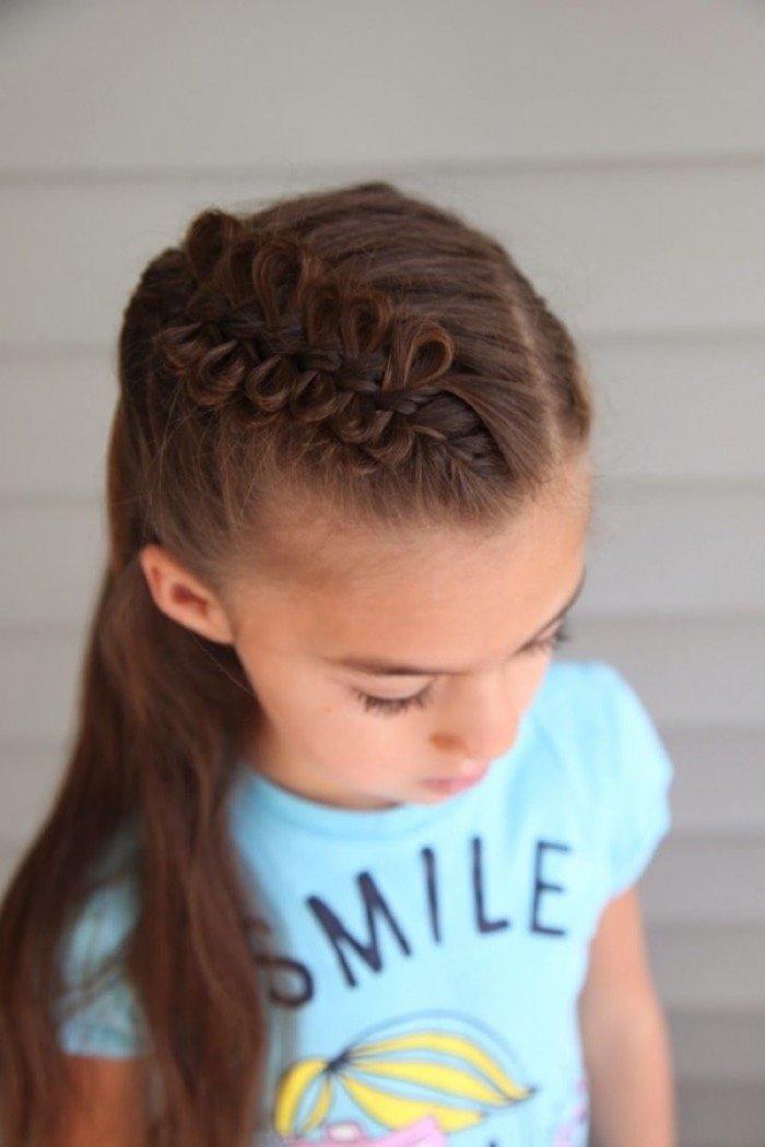 Прическа на длинные волосы для девочки подростка фото