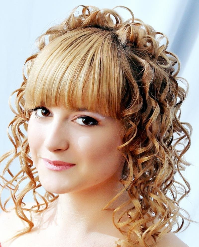 Укладка причёски с чёлкой на средние волосы фото