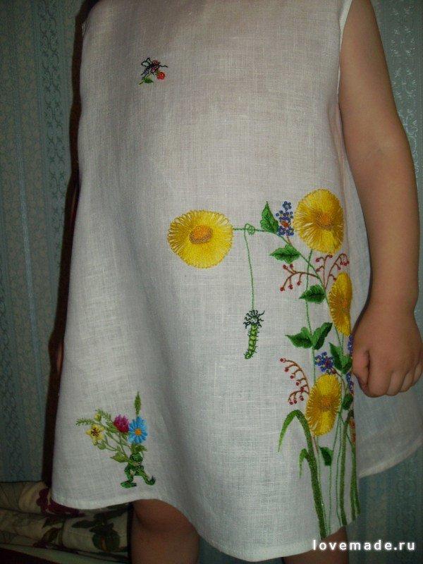 Вышиваем на платье своими руками 155