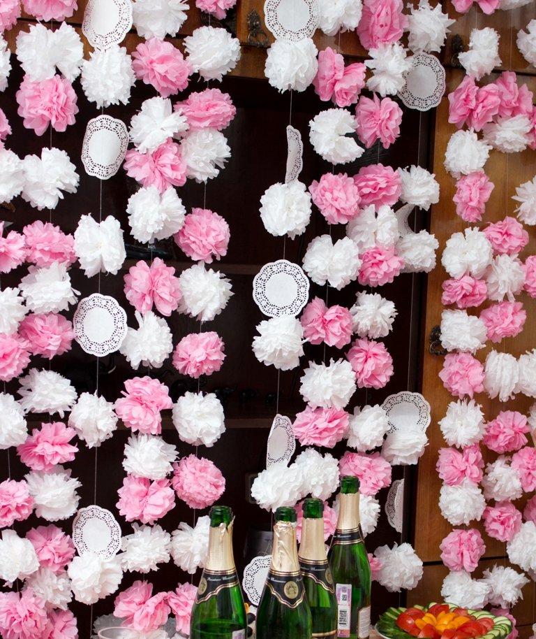 Цветы для гирлянды из гофрированной бумаги своими руками 93