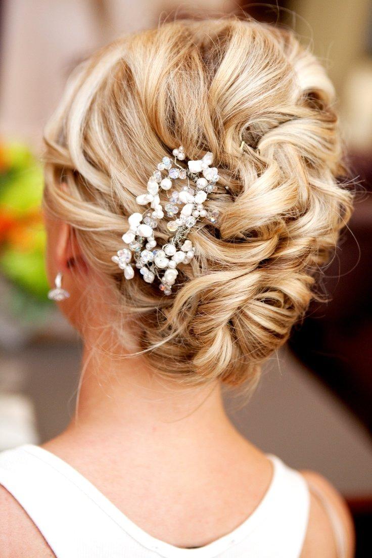 Прическа на свадьбу средние волосы фото
