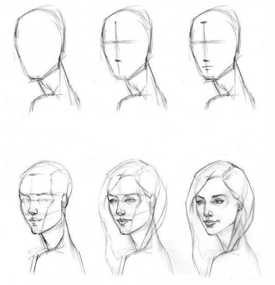 Как научиться рисовать карандашом с нуля поэтапно для начинающих человека