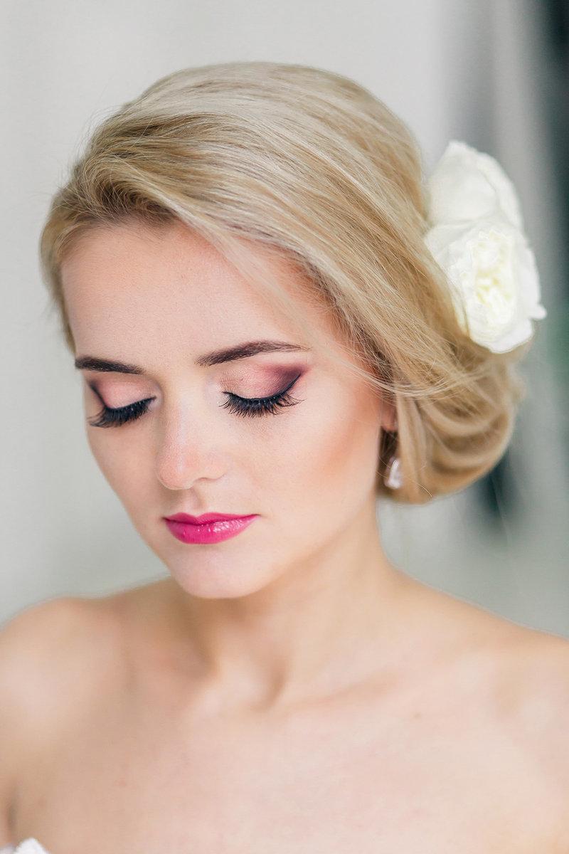 Свадебный макияж в розовых тонах пошагово