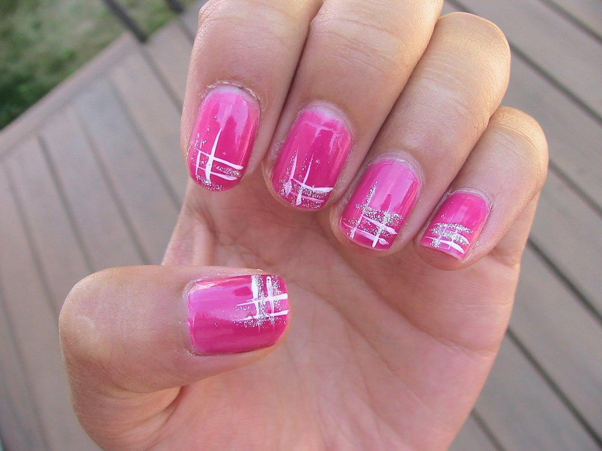 Розовый гель лак на ногтях фото дизайн