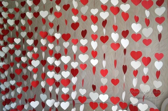 Гирлянда сердечки для свадьбы своими руками 734