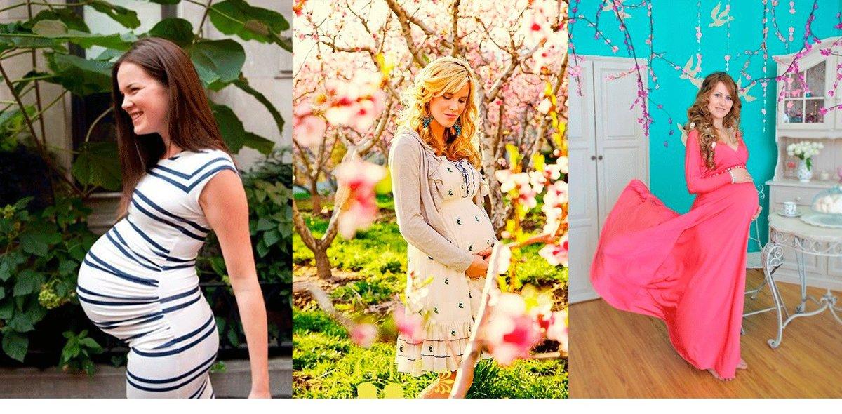 В чем ходят летом беременные 1027