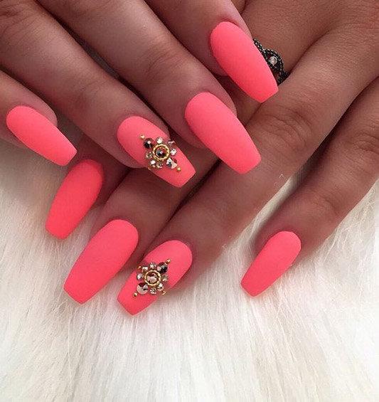 Ногти матовые дизайн розовые