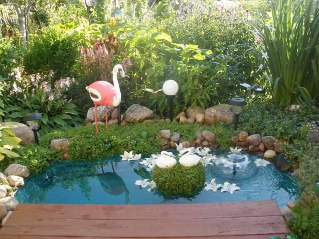 Декор садового пруда своими руками