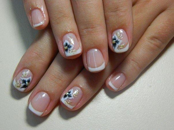 Короткие ногти под гелем