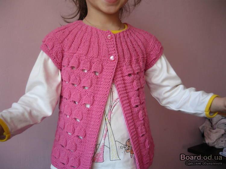 Вязание спицами для девочки жилетка 97