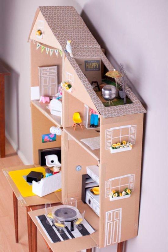 Как сделать кукольный домик для Барби своими руками Крестик
