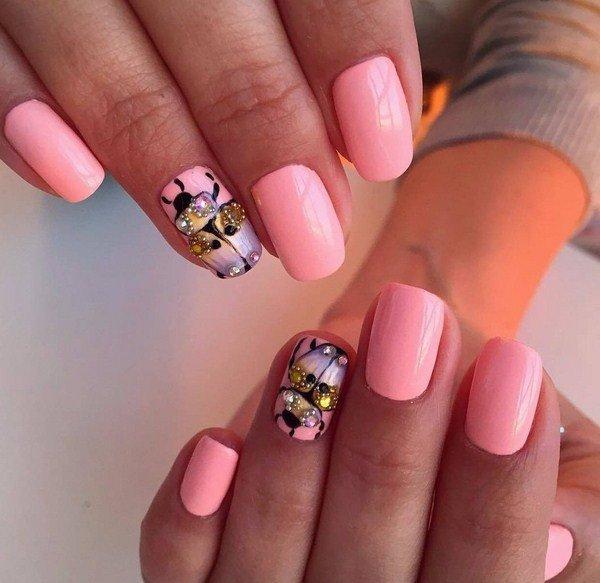 Модный маникюр на коротких ногтях весна 2017