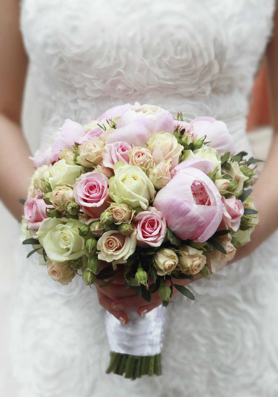 Букет невесты из пионов своими руками фото