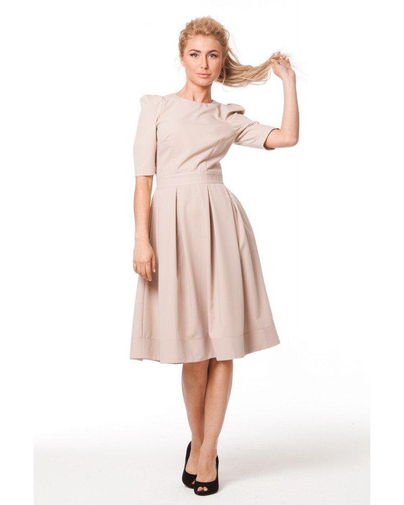 Летнее платье с бантовыми складками