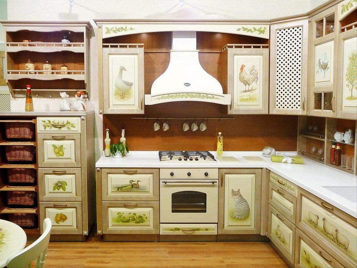 Декупаж кухонного фасада своими руками