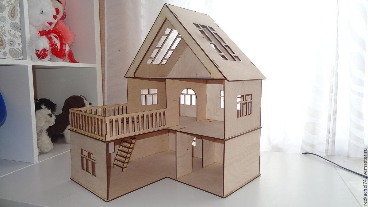 Кукольный домик своими руками из фанеры схема : с размерами чертеж для 11