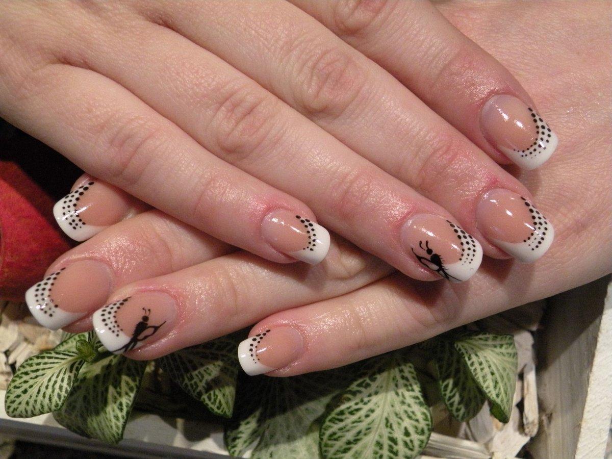 Дизайн ногтей френч. 180 фото 29
