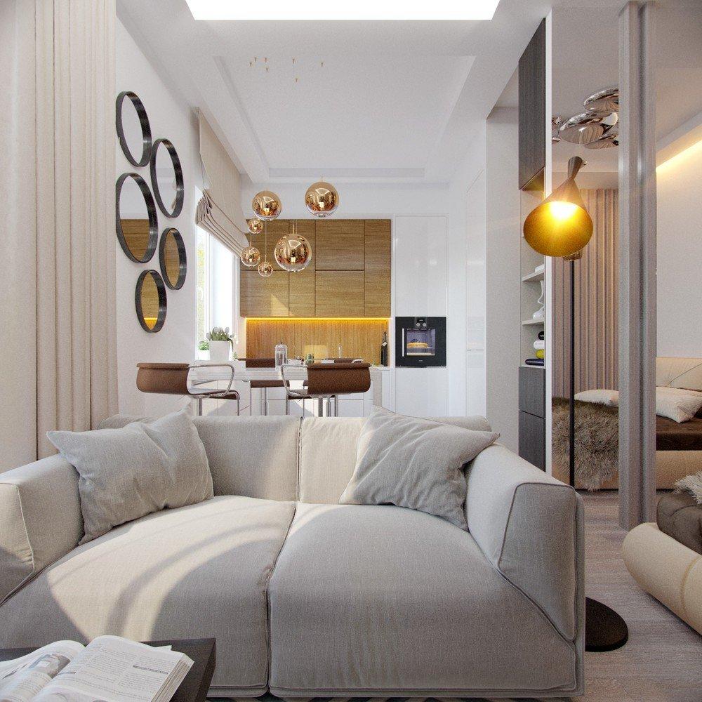 Дизайн интерьера в маленькой квартире фото