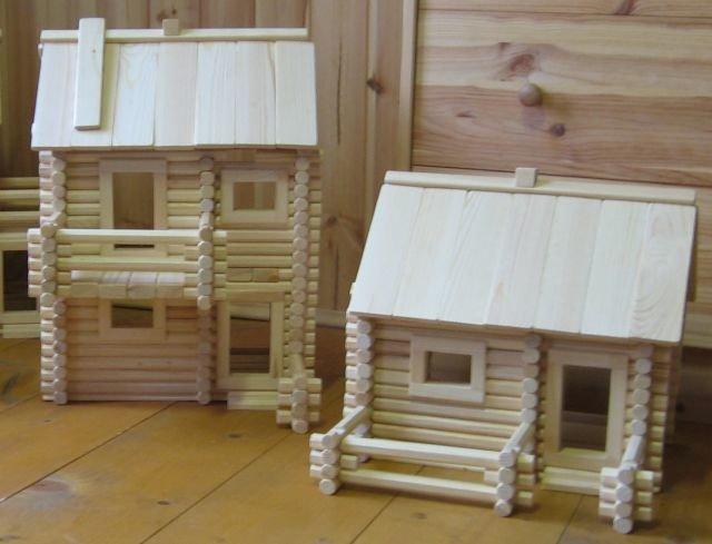 Домики из дерева маленькие своими руками 21