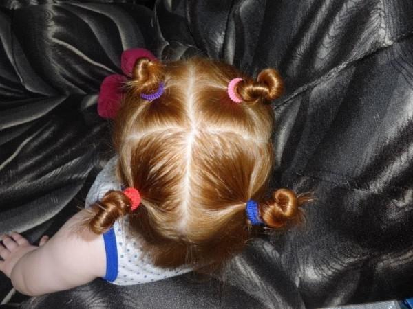 Как сделать рожки из волос для ребенка
