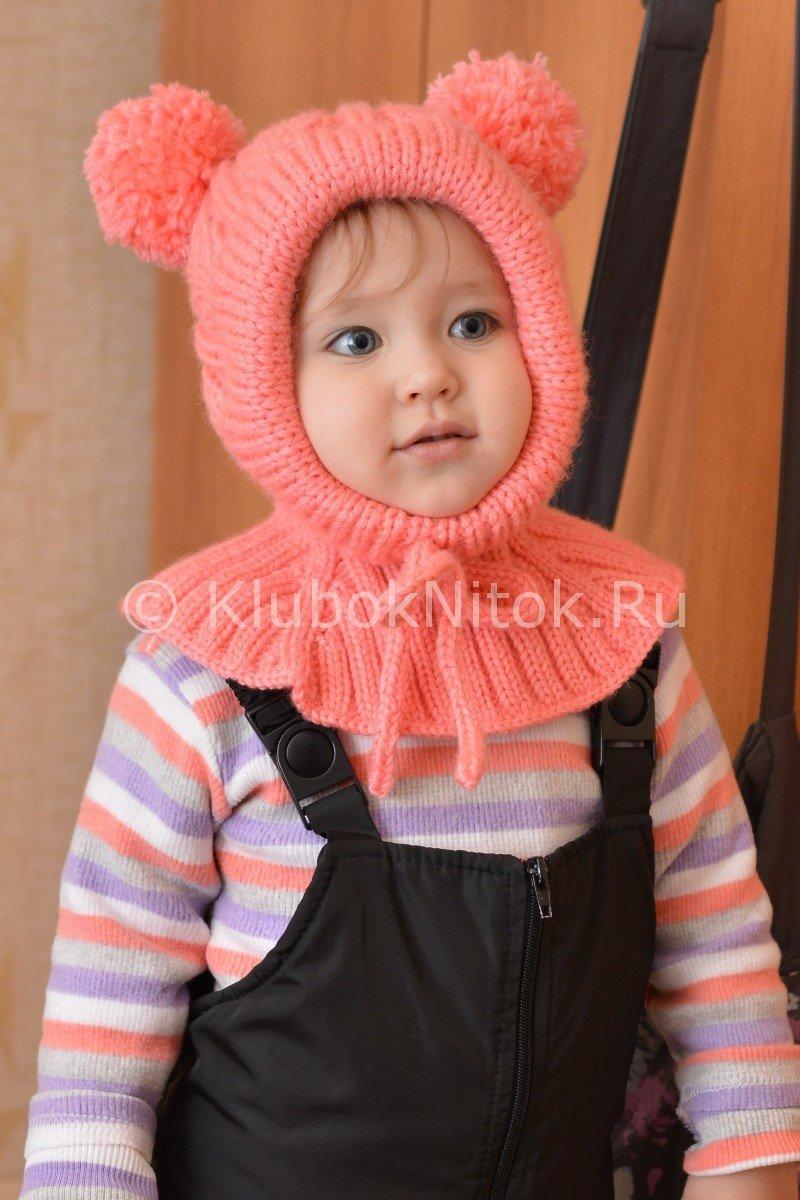 Вязание для девочек шапка шлем 604
