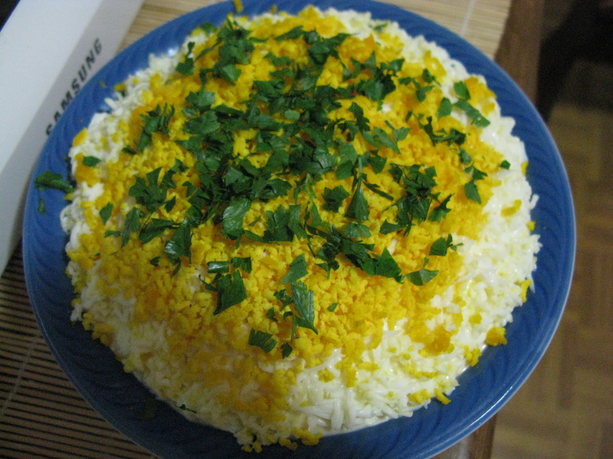 Салат интердевочка рецепт слоями с фото