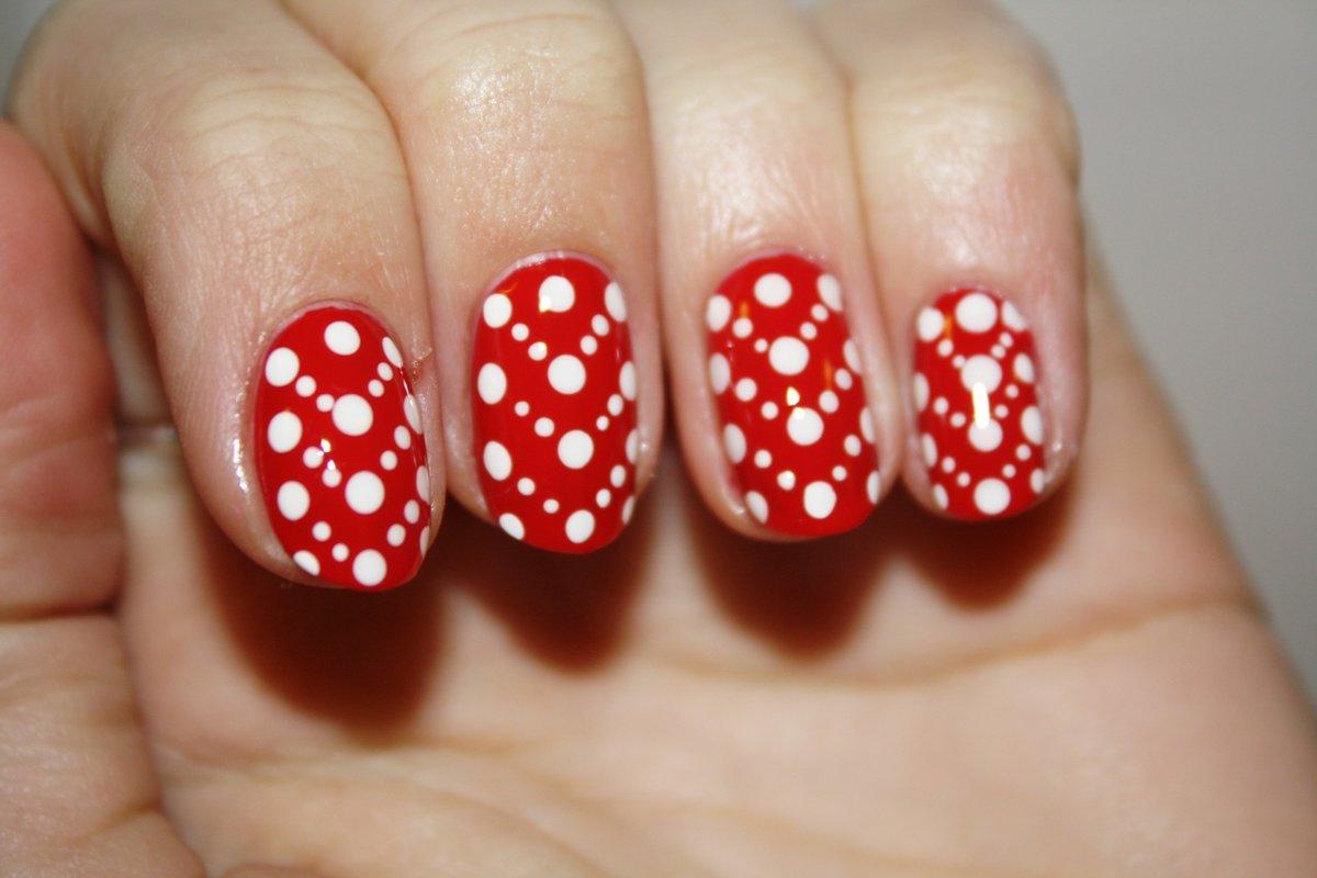 Как сделать точки на ногтях зубочисткой