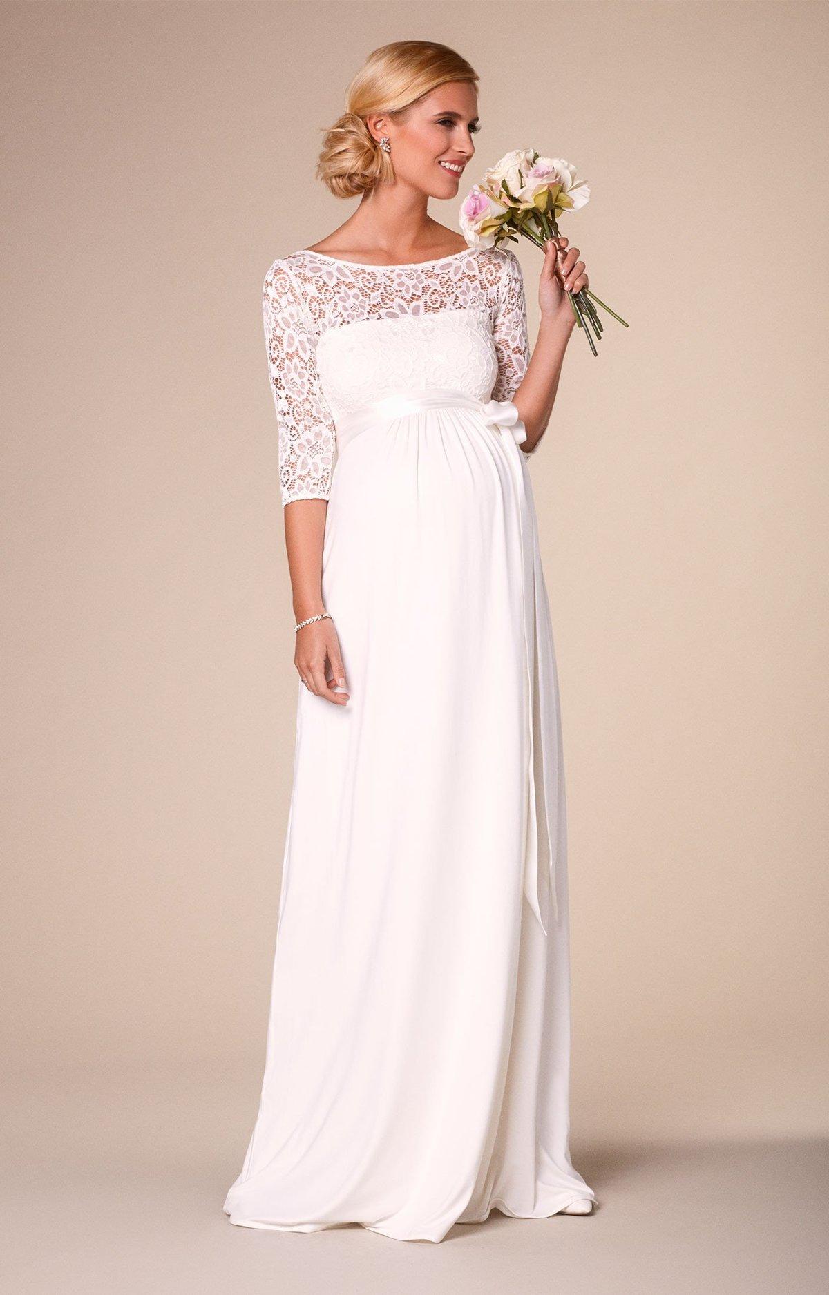 Фасоны свадебного платья для беременных 97