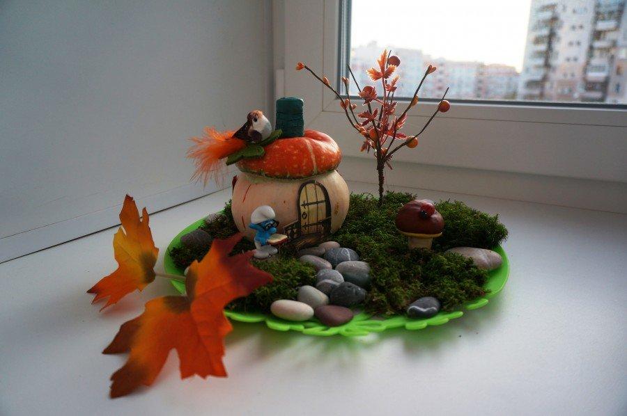 Поделки из осенних материалов в детский сад