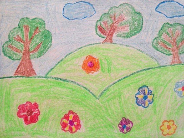 Детские рисунки про лето своими руками 60