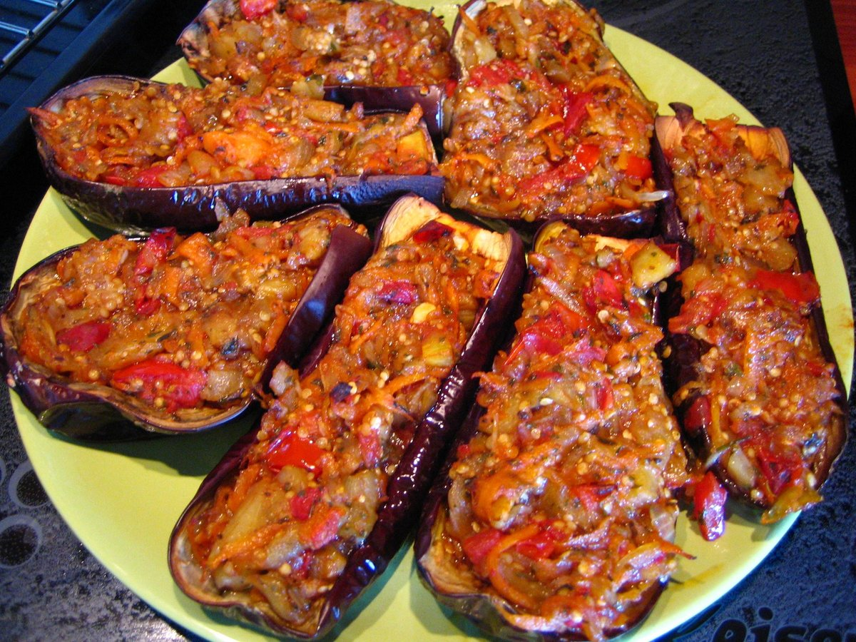 Баклажаны с фаршем в духовке рецепт с фото пошаговый рецепт