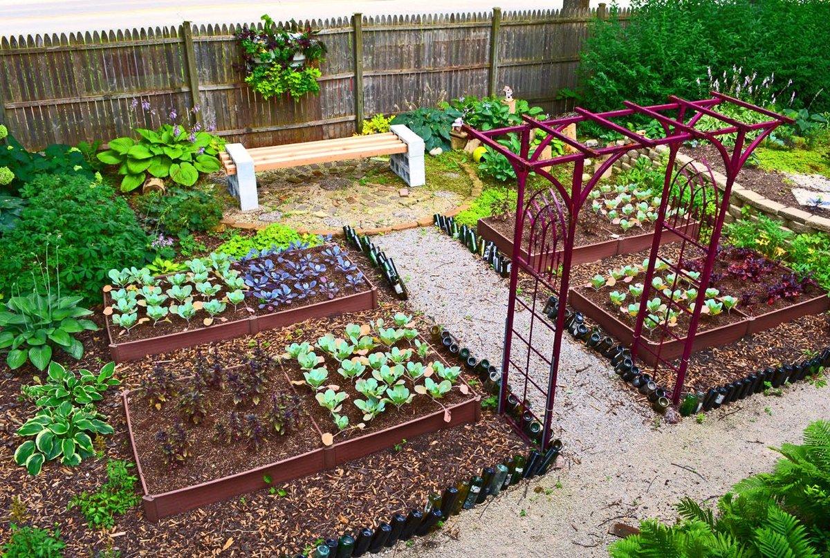 Идеи дизайна огорода своими руками