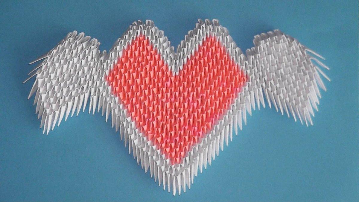 Как сделать из модулей сердце картинки