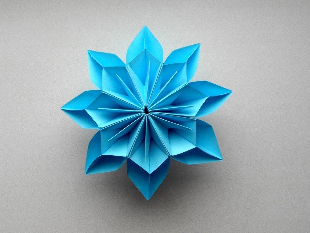 Объёмные цветы из бумаги своими руками оригами 95