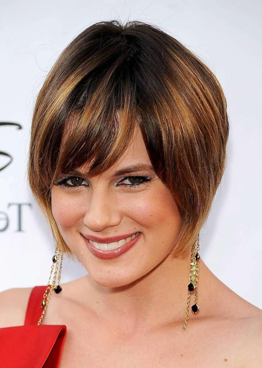 Причёски для полного круглого лица