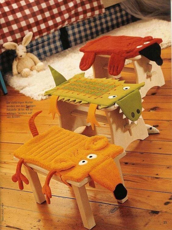 Чехол на стул для детской своими руками 993