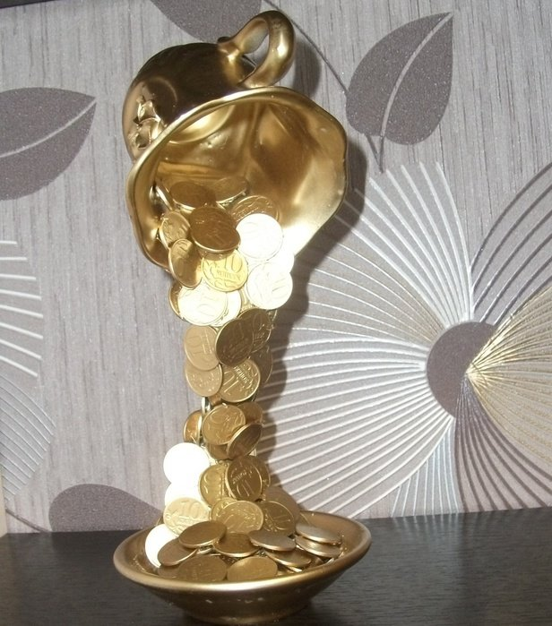 Парящая чашка с монетами своими руками мастер класс 972