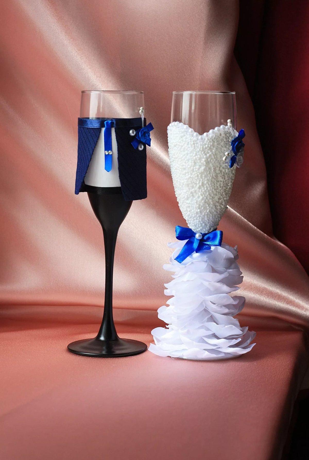 Фужеры жених и невеста своими руками мастер класс