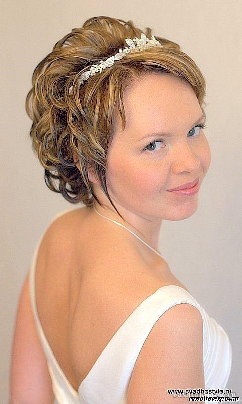 Свадебная прическа на очень коротких волосах