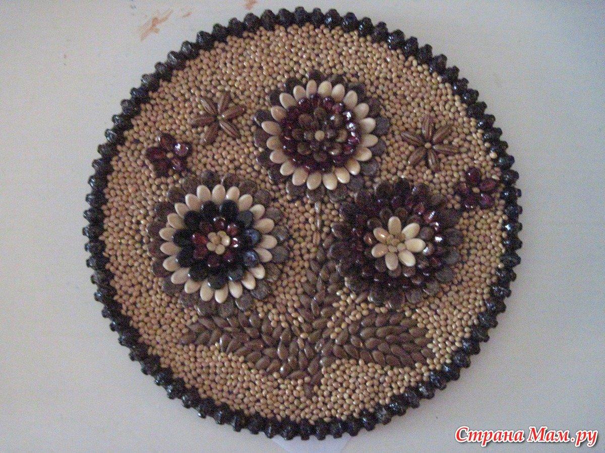 Фото поделок из семян арбуза и дыни